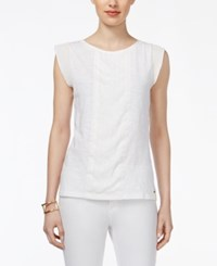 Tommy Hilfiger Hannah Cap Sleeve Top Snow White