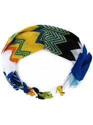 Missoni Zig Zag Knit Headband Multicolour