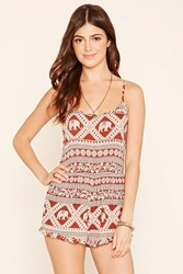 Forever 21 Abstract Elephant Cutout Romper