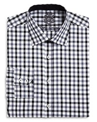 English Laundry El Gingham Big And Tall Classic Fit Button Down Dress Shirt Compare At 98.50 Black