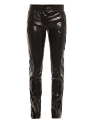 High Shine Leather Trousers