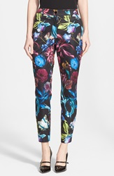 'Kaify' Floral Print Trousers Online Only Black