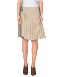 Salvatore Ferragamo Knee Length Skirts Beige