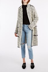 Rochas Long Tweed Coat Multi