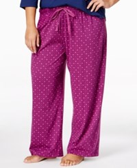 Karen Neuburger Plus Size Printed Pajama Pants Mini Geo