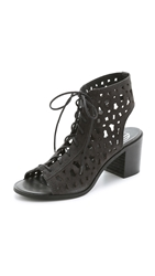 House Of Harlow Lorelai Lace Up Suede Sandals Vulcano