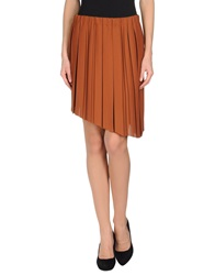 Jucca Knee Length Skirts Brown