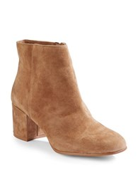 424 Fifth Elyssa Suede Ankle Boots Coyote
