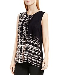 Vince Camuto Textural Track Abstract Print Tank Rosy Flush