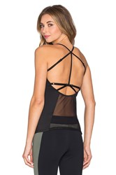 Solow Sport Mesh Block Tank Black