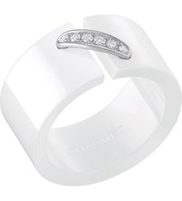 Chaumet Liens De Ceramic White Gold And Diamond Ring