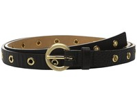 Michael Michael Kors 20Mm Pebble Leather Belt With All Over Grommets Black Women's Belts