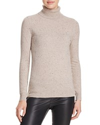 Bloomingdale's C By Cashmere Turtleneck Sweater Wicker Donegal
