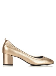 Lanvin Metallic Grained Leather Pumps Bronze
