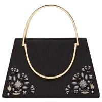 Ted Baker Jacki Embellished Metal Handle Clutch Bag Black