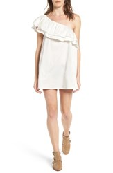 Sincerely Jules Women's Everly One Shoulder Cotton Dress White