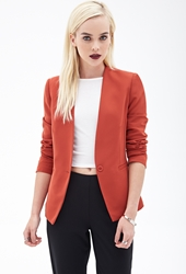 Forever 21 Collarless One Button Blazer