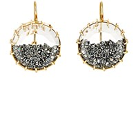 Renee Lewis Women's Black Diamond Shake Drop Earrings No Color