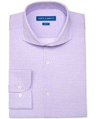 Vince Camuto Men's Slim Fit Purple Dot Pattern Dress Shirt