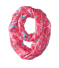 Lilly Pulitzer Riley Infinity Loop Sea Blue Flirty Scarf Scarves Pink