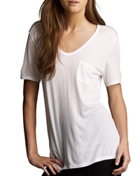 T By Alexander Wang Jersey Pocket Tee White Large 12 14