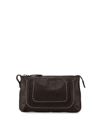 Anna Leather Travel Pouch Charcoal Grey Frye