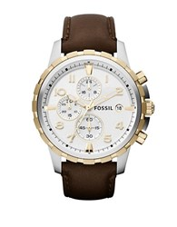 Fossil Mens Dean Chronograph Watch Brown