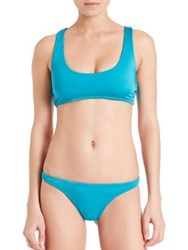 Milly Cross Back Bikini Top Aqua