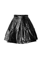 Kenzo Patterned Pleather Mini Skirt