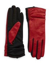 Lord And Taylor Cherry Ruched Gloves