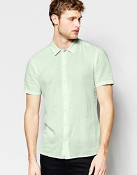 Asos Shirt In Mint With Short Sleeves Mint Green
