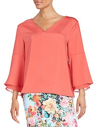 Eci Flutter Sleeve Top Watermelon