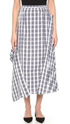 N 21 Gingham Skirt Blue Plaid
