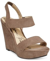 American Rag Audria Two Piece Platform Wedges Only At Macy's Women's Shoes Taupe