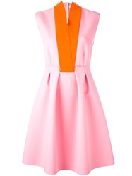 Msgm Sleeveless Pleated Dress Pink Purple