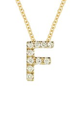 Bony Levy Women's Pave Diamond Initial Pendant Necklace Nordstrom Exclusive Yellow Gold F