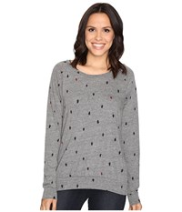 Alternative Apparel Printed Slouchy Pullover Eco Grey Tree Dot Women's Sweatshirt Gray