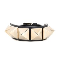 Valentino Rockstud Leather Bracelet Black