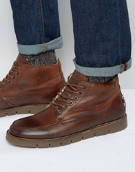Jack And Jones Kingston Warm Lining Leather Boots Tan