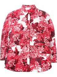Moncler Gamme Rouge Floral Print Jacket Pink And Purple