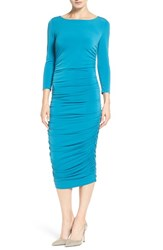 Catherine Malandrino Women's 'Lansbury' Ruched Sheath Dress Teal