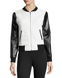 Romeo And Juliet Couture Quilted Knit Jacket Black White