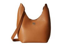 Tory Burch Perry Small Hobo Bark Light Gold Hobo Handbags Brown