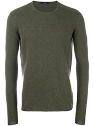 Roberto Collina Crew Neck Jumper Green