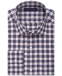 Tommy Hilfiger Non Iron Dark Navy Plaid Dress Shirt