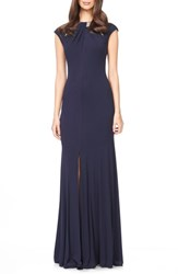 Women's David Meister Embellished Woven Gown