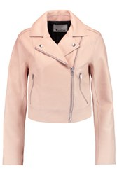 Alexander Wang T By Textured Leather Biker Jacket Neutral