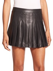 Bcbgmaxazria Shane Pleated Mini Skirt Black