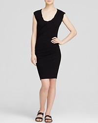 Pam And Gela Dress Twisted Knit Black
