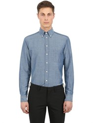 Eton Slim Fit Cotton And Linen Blend Shirt
